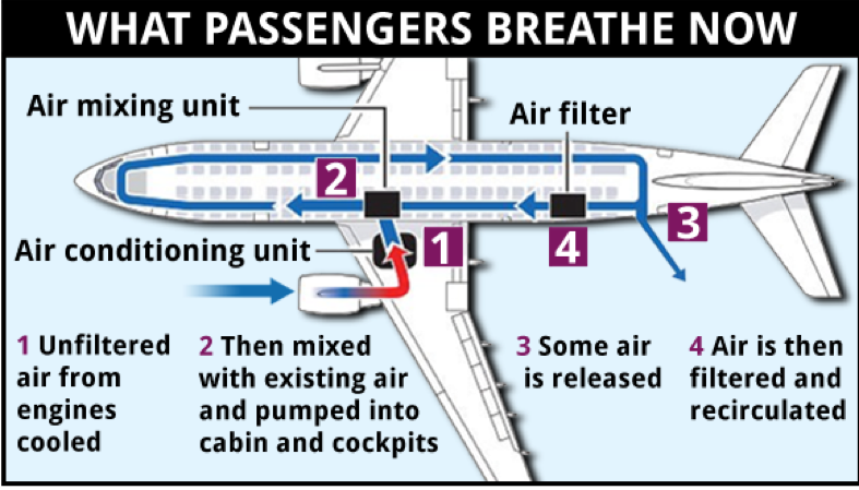 Cabin Air Safety on a plane